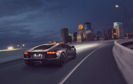 Lamborghini Aventador LP 700-4 Supercar Night City