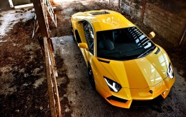 Lamborghini Aventador Yellow Car