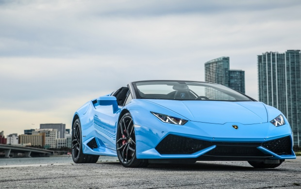 lamborghini huracan spyder front three quarters 2016 wallpapers. Black Bedroom Furniture Sets. Home Design Ideas