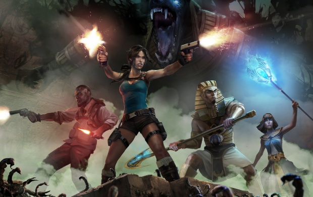 Lara Croft And The Temple Of Osiris Art (click to view)