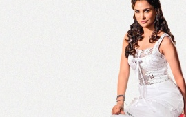 Lara Dutta White Dress