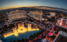 Las Vegas Sunset Fountain Show