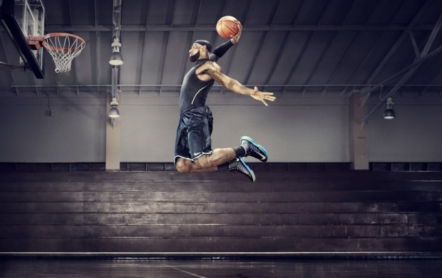 Lebron James Slam Dunk (click to view)