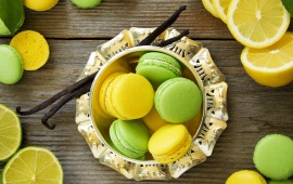 Lemon Macaroon Leaves