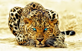 Leopard Cat Art