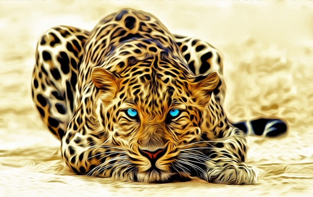 Leopard Cat Art (click to view)