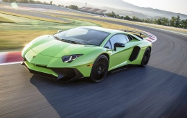 Light Green Lamborghini Aventador LP750-4 SV