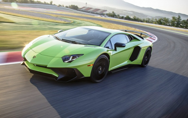 Light Green Lamborghini Aventador LP750-4 SV (click to view)