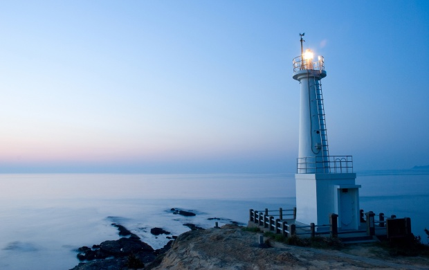 Lighthouse At Sunset (click to view)