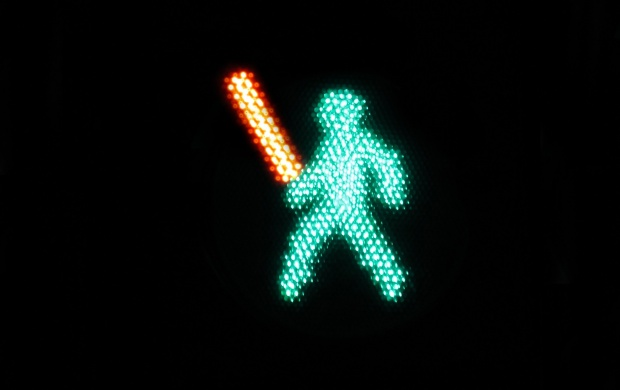 Lightsaber Traffic Light (click to view)