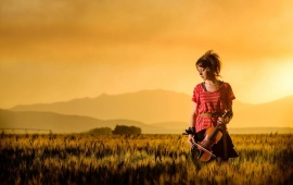 Lindsey Stirling And Sunset