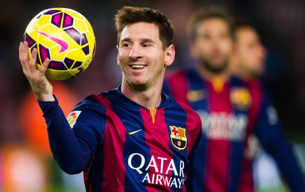 Lionel Messi With Ball (click to view)