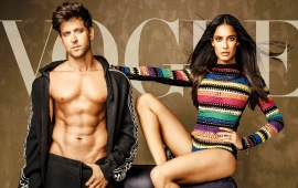 Lisa Haydon And Hrithik Roshan Vogue 2017