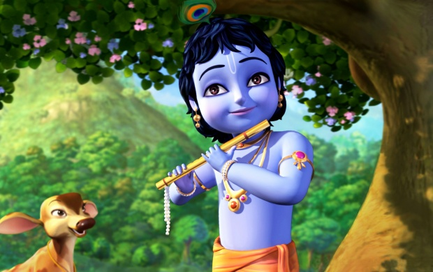 Little Animated Krishna (click to view)