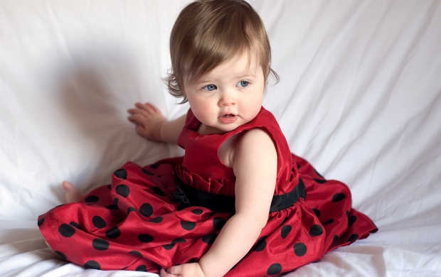 Little Girl In Red Dress (click to view)
