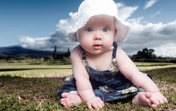 Little Girl With White Cap (click to view)