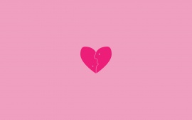 Little Heart With Pink Background