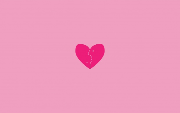 Little Heart With Pink Background (click to view)