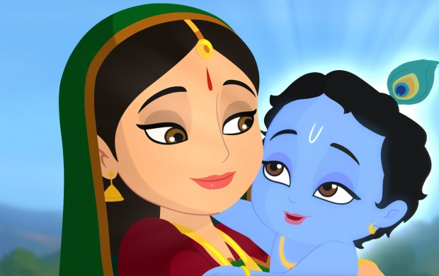 Little Krishna And Yasoda (click to view)