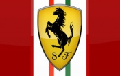 Logo Ferrari Red Background