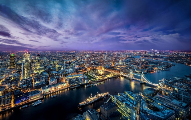 London At Dawn Seen From Above (click to view)