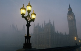 London Big Ben In Fog