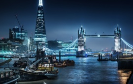 London City Thames Nigth