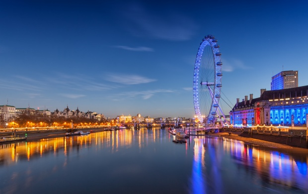 London Eye At Twilight (click to view)