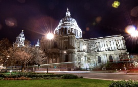 London Night St Paul Cathedral