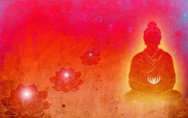 Lord Buddha Red Background