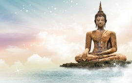 Lord Buddha With Lake