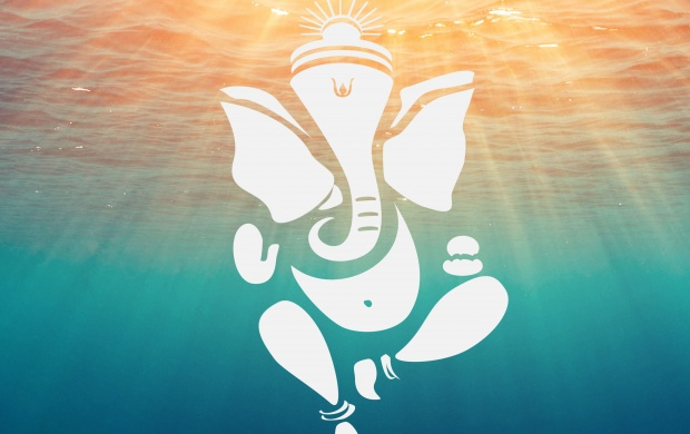 Lord Ganesha Deep Ocean Water (click to view)