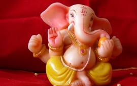 Lord Ganpati Bappa Red Background