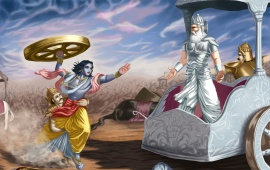 Lord Krishna And Bhishma Pitamah