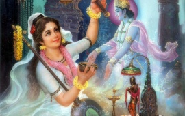Lord Krishna And Meera