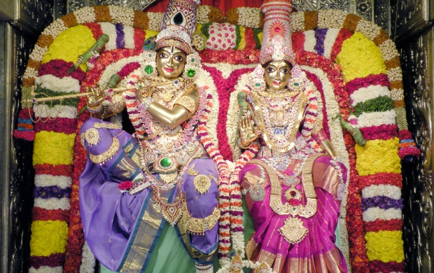 Lord Radha Krishna Golden Statue (click to view)