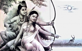 Lord Rama And Mata Sita
