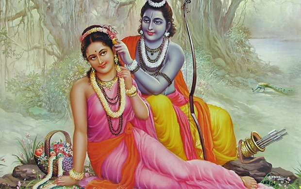 Lord Rama And Mata Sita Beautiful (click to view)