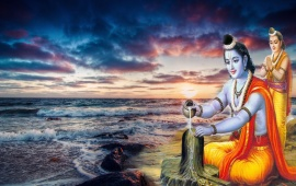 Lord Rama Worship Of Lord Shiva