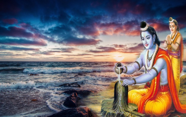 Lord Rama Worship Of Lord Shiva (click to view)