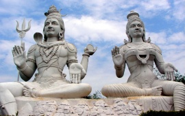 Lord Shiva And Parvathi In Kailasa Giri