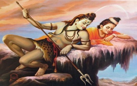 Lord Shiva Parvati Paintings