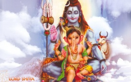 Lord Shiva With Lord Ganesha