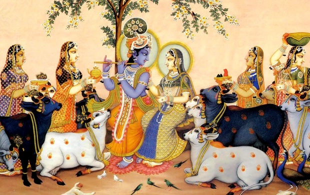Lord Shri Krishna And Gopi (click to view)