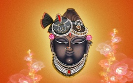 Lord Shrinathji Fractal Background
