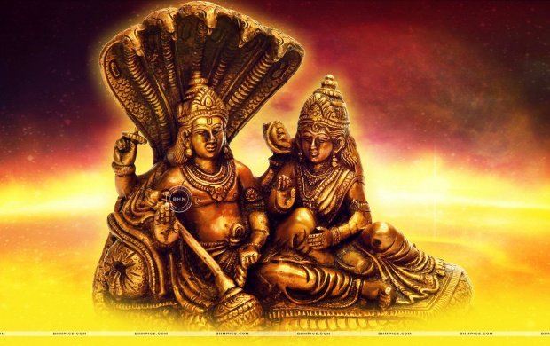 lord vishnu and goddess lakshmi t3