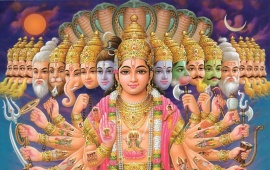 Lord Vishnu And The 10 Avatars