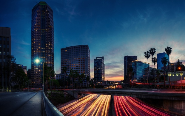 Los Angeles Evening Road Lights (click to view)
