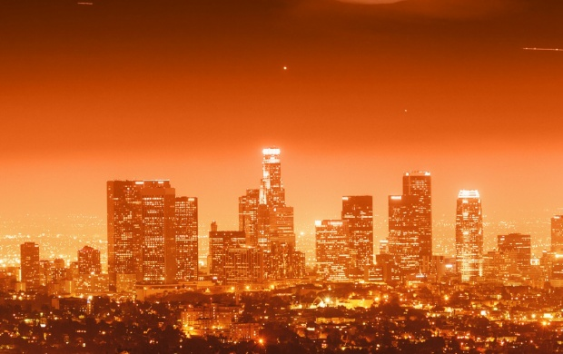 Los Angeles Full Moon (click to view)