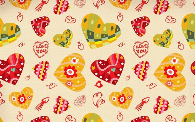 Love Colorful Art Hearts (click to view)